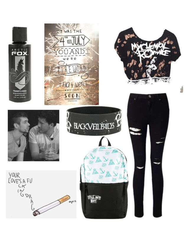 """You're a heart attack in black hair dye"" by gabiwilcox on Polyvore featuring Miss Selfridge"