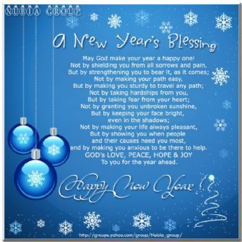New Year's Day Blessing | Here's a New Year's Blessing for you.