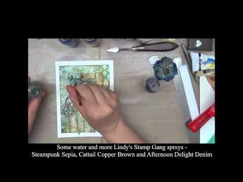 Mixed Media Art Card Tutorial - YouTube