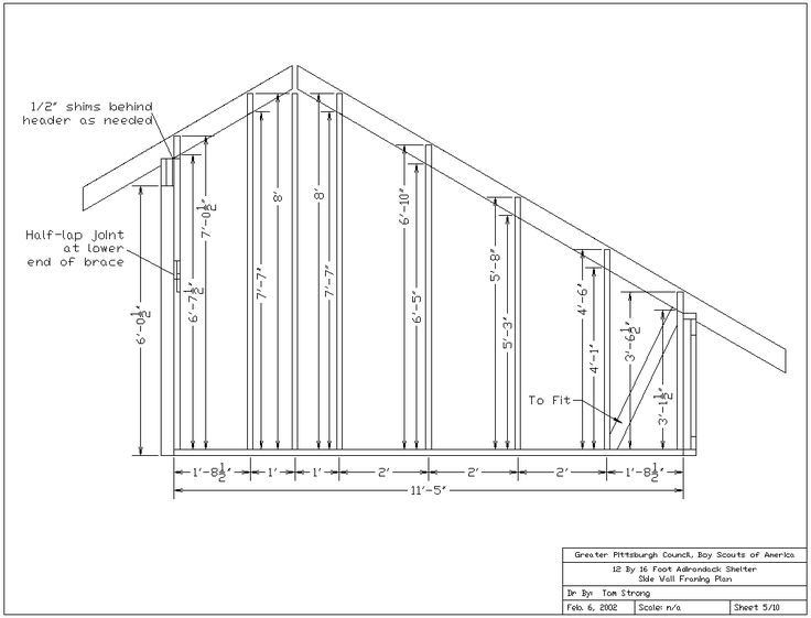 Adirondack Shelter Plans  All Drawings