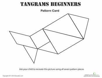 Fish Tangrams Printable