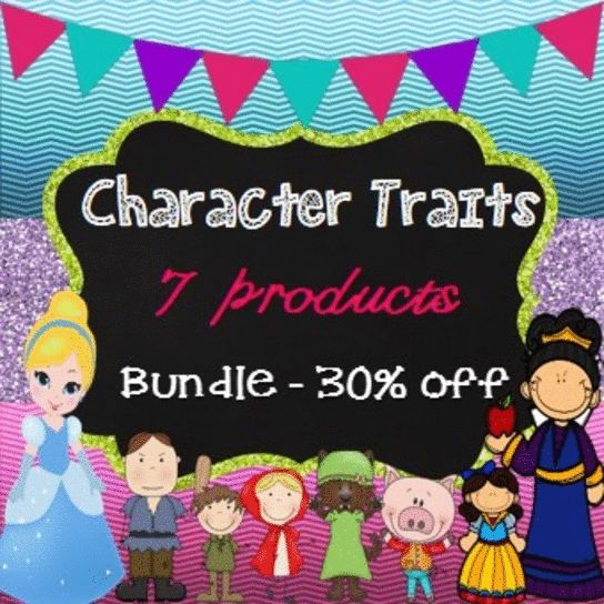 Save over 30% off! Character Traits Bundle Pack - 300+ pages - 7 awesome products to assist students to cement their understanding of character traits.