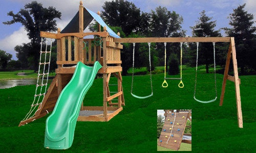 Playset Plans Fort Swing Set Diy Free Swings Accessories
