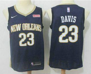 Men s New Orleans Pelicans  23 Anthony Davis New Navy Blue 2017-2018 Nike  Swingman 4fc094248