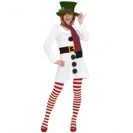 Sneeuwpop meisje kostuum