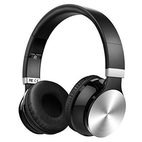 Casque Bluetooth VicTsing Casque Stéréo sans fil Bluetooth 4.0, Ecouteur Stéréo, Casque Audio, Lecteur MP3, Casque Pliable avec Micro et…