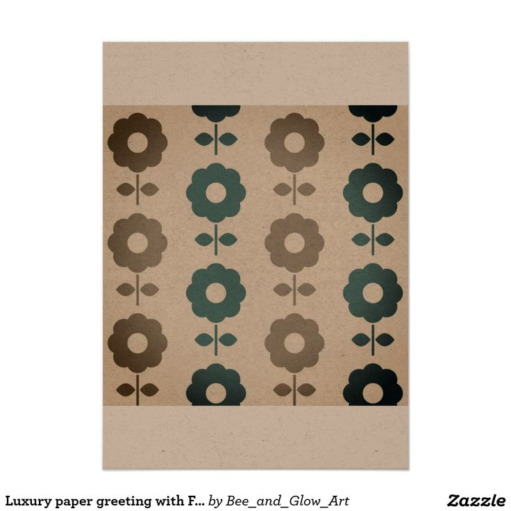 Luxury paper greeting with Folk flowers Card