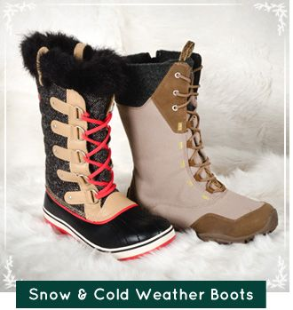 Snow & Cold Weather Boots, Stacked with Wigwam Socks for the ultimate warmth!