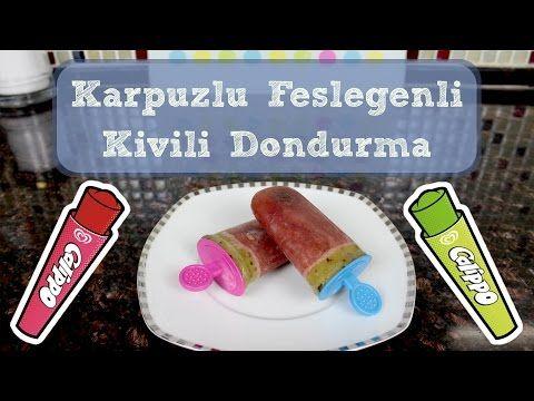 Meybuz Nasıl Yapılır - Karpuzlu Fesleğenli Kivili Dondurma - Buzlu Dondurma…