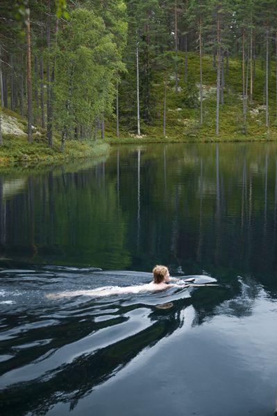 Brattfors Naturereserv lake swim