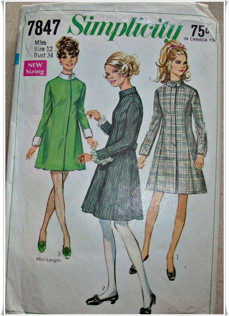Die 17 besten Bilder zu RETRO and VINTAGE sewing patterns for sale ...