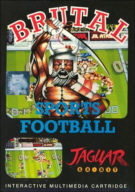 Game of the Day: Brutal Sports Football for Atari Jaguar @ www.TheGamingWarehouse.com/Brutal-Sports-Football-for-Atari-Jaguar/  Do you like action but reckon that chainsaw massacres are for grannies' tea parties? If you do then Brutal Sports Football is for you, League, Knockout or Unfriendly Tournaments.    Football with a new set of rules – no rules! 1 or 2 player game • 11 different teams• Head to Head, All Out Combat • Masses of Pick Ups • Laughs, Blood.    Thi...