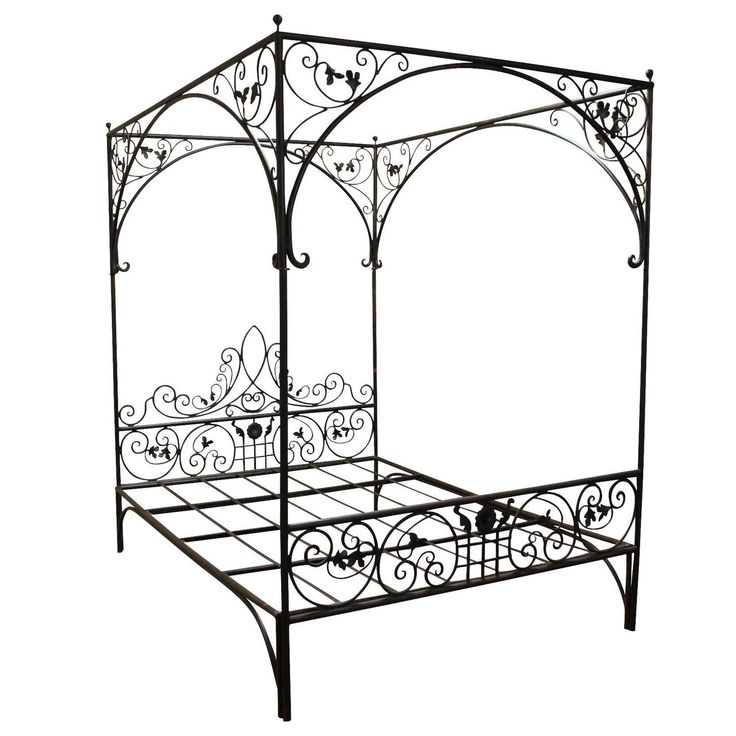 Wrought Iron Queen Beds With Scrolling