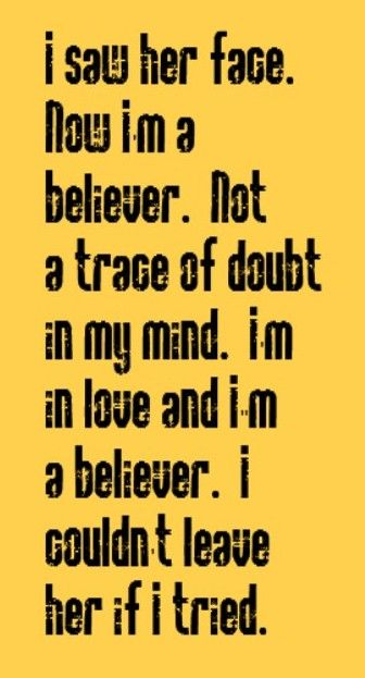 Neil Diamond - I'm a Believer - song lyrics, song quotes, music lyrics, music quotes, songs