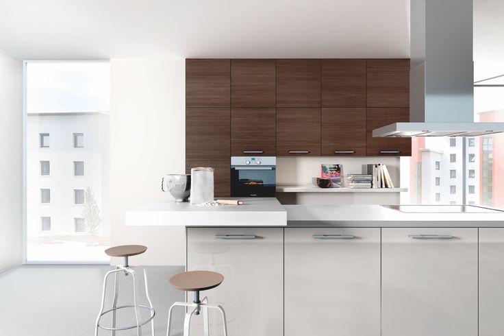 Sherry Oak real wood kitchen wall units Sherry oak hacker - alno küchen grifflos