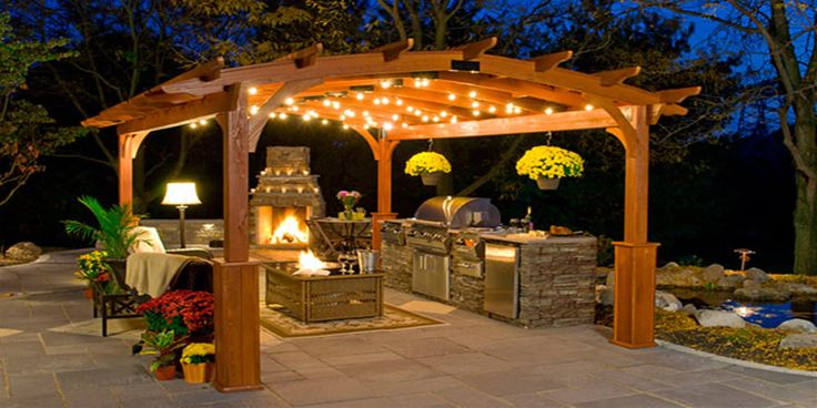 pools with pergola | your pool area will look great with this custom pool side pavilion ...