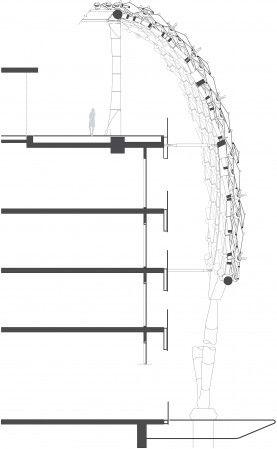 Facade detail Asymptote: Hani Rashid + Lise Anne Couture