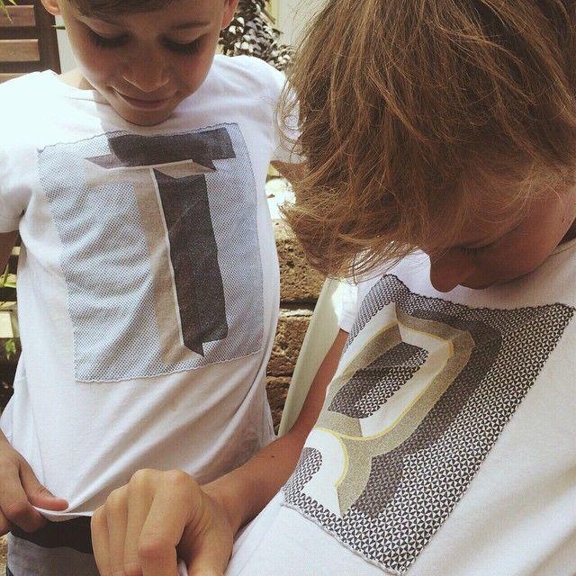 Tommaso e Riccardo con le loro T-shirt personalizzate✨ #mypersonalcharityevent #douuodkids