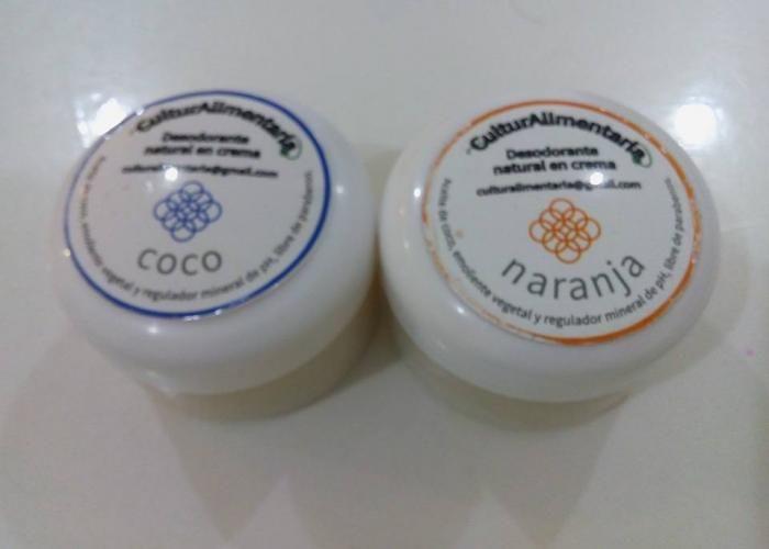 Desodorantes naturales de coco y naranja.