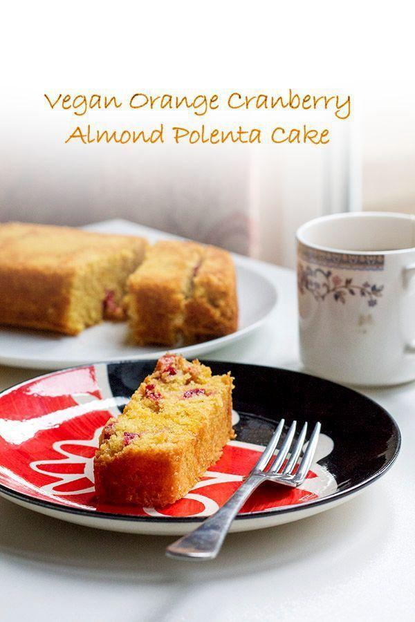 Orange, Cranberry and Almond Polenta Cake // polenta, ground almonds, fresh cranberries, demerara sugar, oranges, vegetable oil, baking powder, bicarb soda