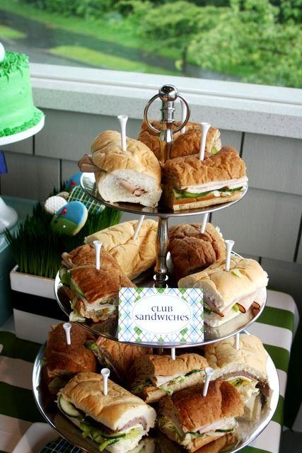 Golf Party Club Sandwiches | Golf Birthday Par.Tee | CatchMyParty.com