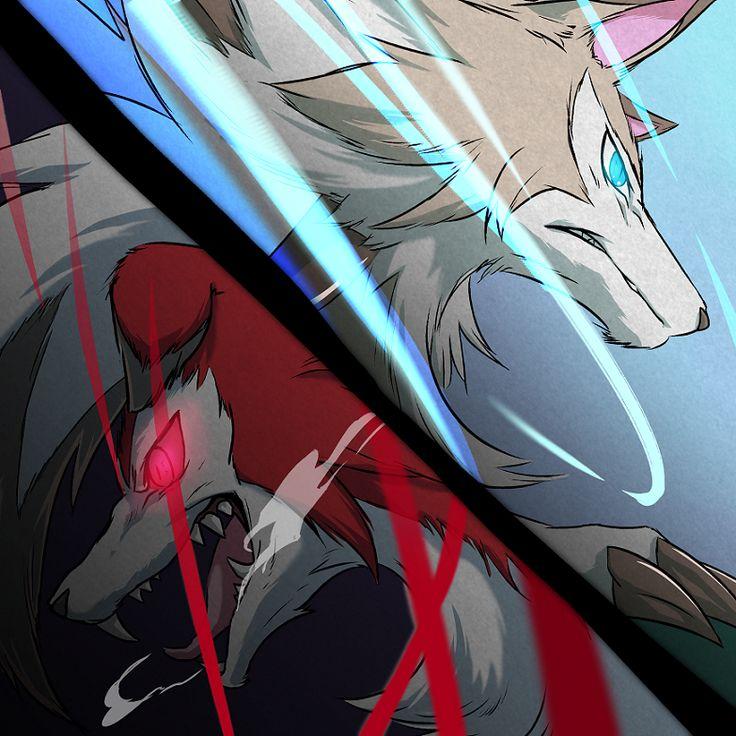 Midnight Lycanroc & Midday Lycanroc