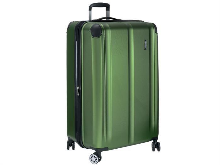 Reisekoffer 77cm 113l 4 Rollen Hartschale Trolley CITY | Travelite - grün