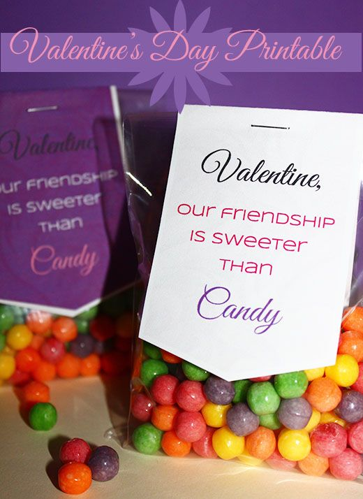 Sweeter than Candy Printable Valentine