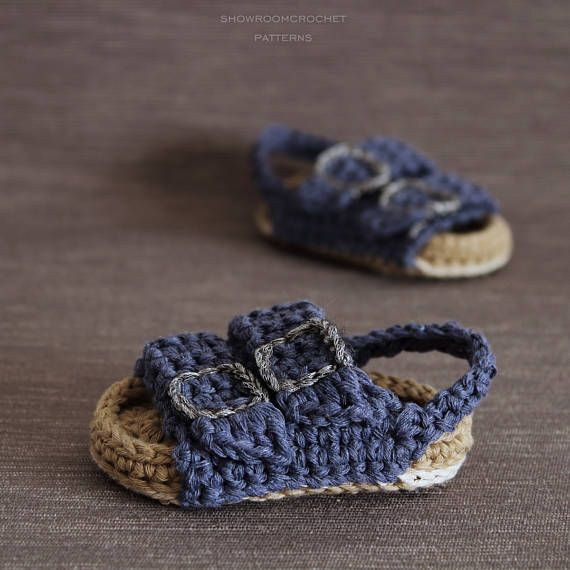 ___ Instant Download Pattern___ This listing is for a PDF crochet pattern only and not the finished ítem. You will receive elaborated written PDF in ENGLISH and SPANISH for crocheting this original baby sandals which remind us the traditional Birkenstock sandals. This pattern is written in American terminology. It is a step by step tutorial with almost 50 photos and clear instructions to make it easier. Skill level: Intermediate Size: 0-3 months(approx 8.5cm/3.37in) 3-6 months(appro...