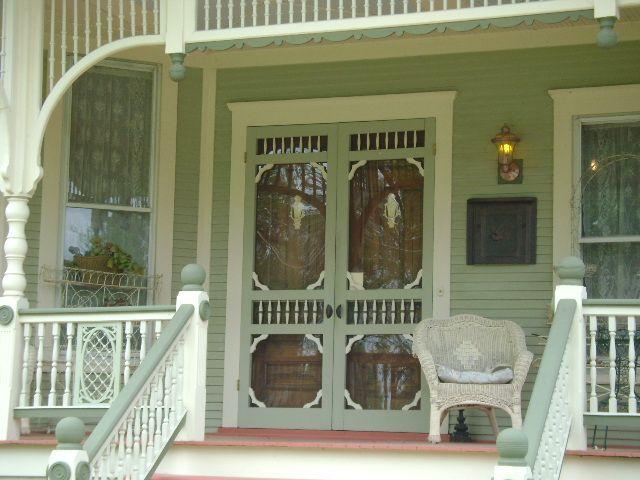 Historic Properties for Sale - Flamboyant Queen Anne - Alton, Illinois.  Victorian PorchVictorian HousesDoor ... - 354 Best Antique Screen Doors Images On Pinterest Porch