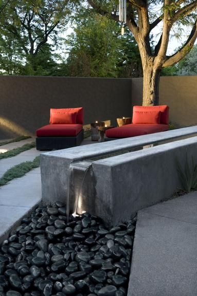 a modern water feature. very nice!