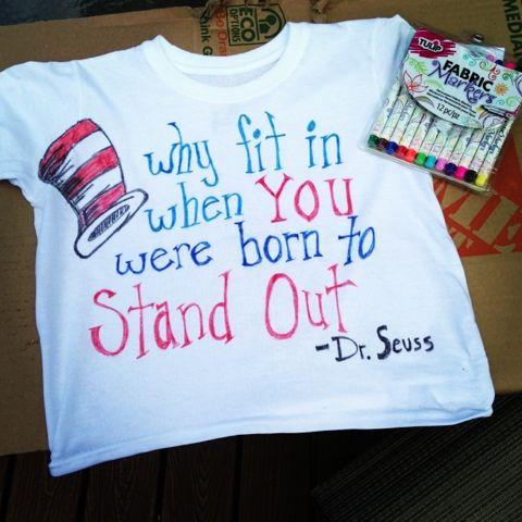 Dr. Seuss tshirt Fun, cheap and easy! DIY t shirts!