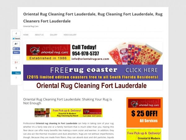 Oriental Rug Cleaning Fort Lauderdale: Shaking Your Rug is Not Enough