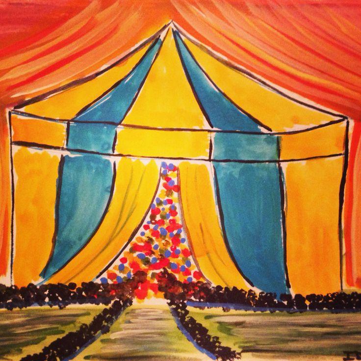 """""""Cirque du Soleil"""" watercolour 7"""" X 5"""" $40"""