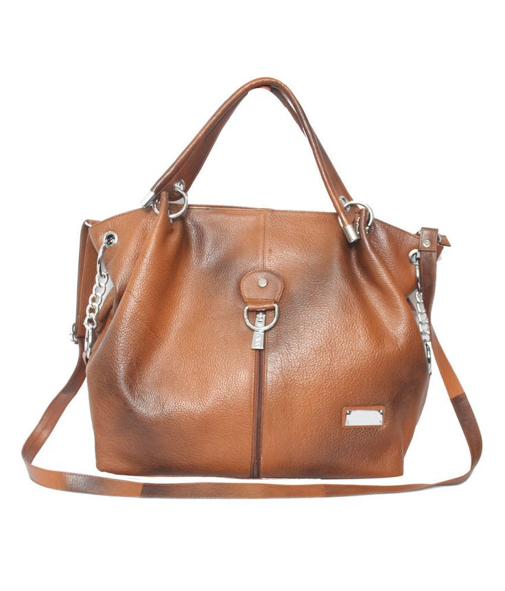 Comfort 15 inch Pure Tan Leather Handbags for Women and Girls EL55