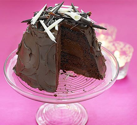 Wow. A definite crowd pleaser - chocolate mousse hidden by a layer of chocolate sponge, covered with the best chocolate topping we've ever tasted