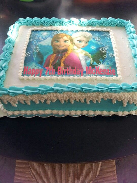 Disney's  Frozen sheet cake