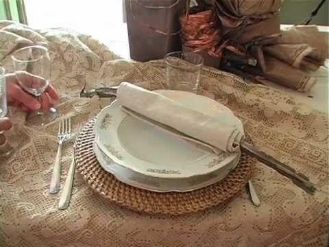 Un viandante in cucina: Come preparare una tavola Rustica ed Elegante_uChe...