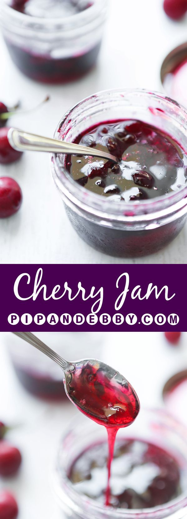 Cherry Jam | This is such a delicious way to use up fresh cherries! This is my boys' absolutely favorite jam of all time.