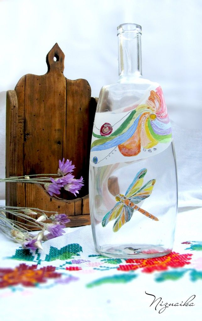 sticla pictata (painted bottle)