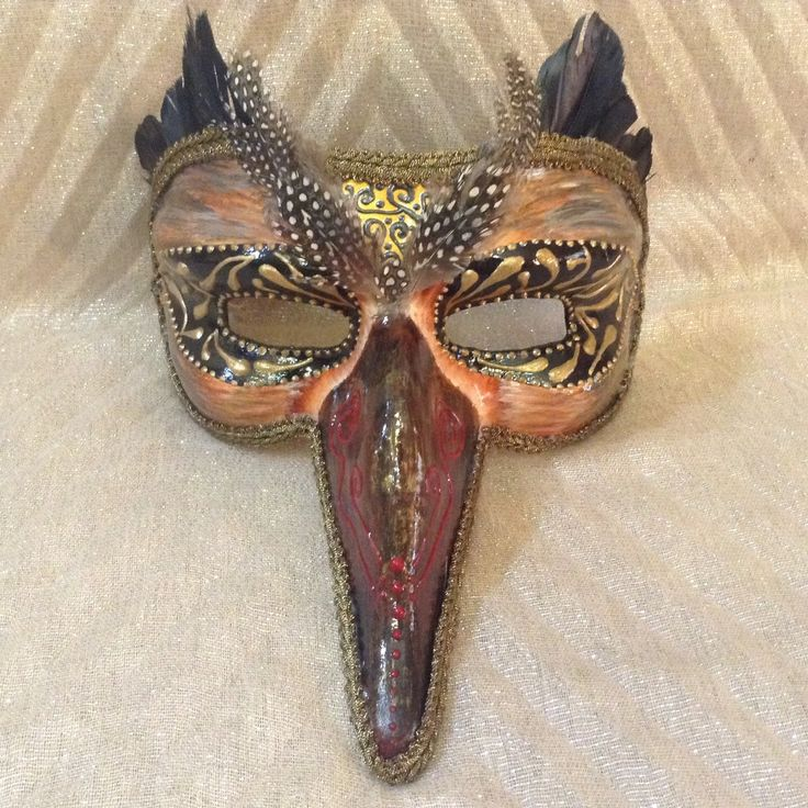 """Venetian costume masquerade ball mask handmade, lightweight  wearable, in golden shades brown  and black, """"Owl male mask"""" by EthnicDrops on Etsy https://www.etsy.com/listing/270910835/venetian-costume-masquerade-ball-mask"""