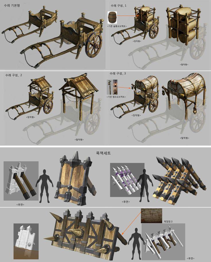 수레, 방책 세트, KKS ~ on ArtStation at http://www.artstation.com/artwork/object-concept-31ca0f88-1e84-4d06-9bed-b809cb6b8256