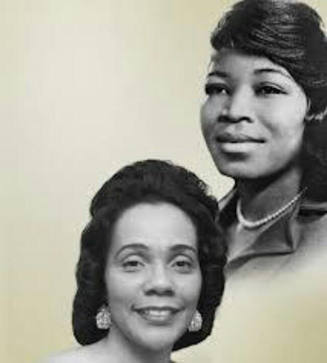 Betty Shabazz and Coretta Scott King