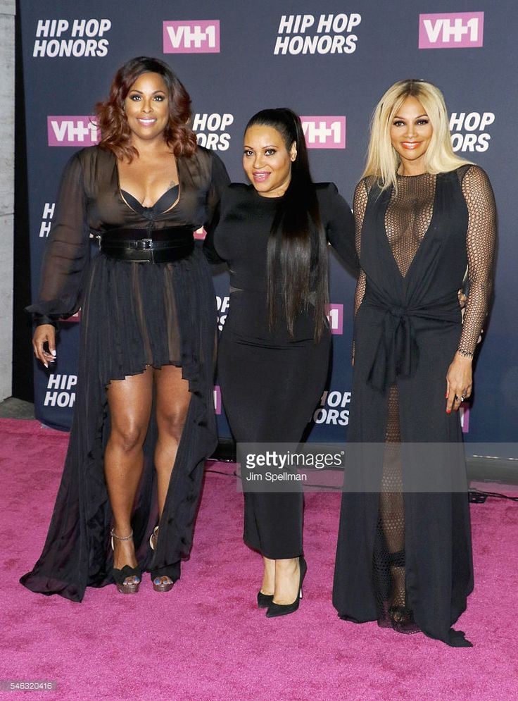 DJ Spinderella, rappers Cheryl James and Sandra Denton of Salt-n-Pepa attend the 2016 VH1 Hip Hop Honors: All Hail The Queens at David Geffen Hall on July 11, 2016 in New York City.