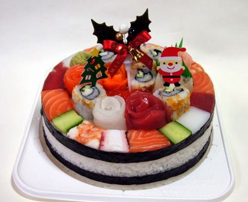 I Ve Made A Sushi Cake For Christmas This Year Type 1 Premium With Decorations Dx Ca