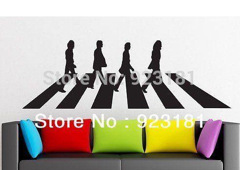 Le Beatles ABBEY ROAD MUSIC Wall Art Stickers autocollant Bricolage Décoration murale autocollants chambre amovible 95x 28: Price:Élément…