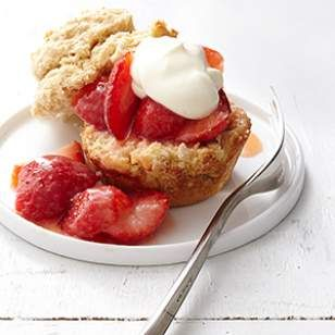 Skip rolling and cutting dough and use your muffin tin in this healthy strawberry shortcake recipe.