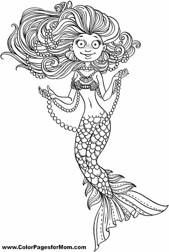 mermaid coloring pages pinterest - photo#43