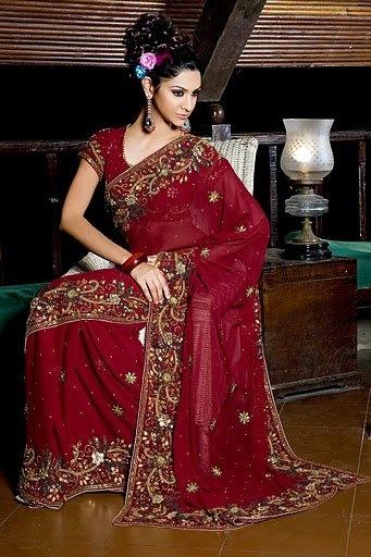 I've always wanted a sari.