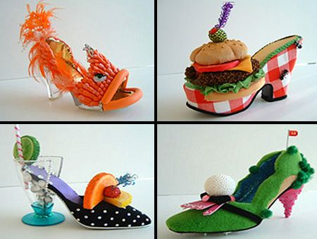 Funky ideas for mixed media or ceramics/sculpture. My students have really had fun with creating shoes!